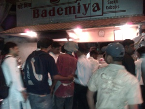 Bade Miya : THE street side kebab joint which opens form 7 PM till 4 AM and makes people go crazy for it's kebabs.