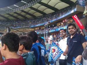Mumbai Indians vs Deccan Chargers match at Vankhede Stadium